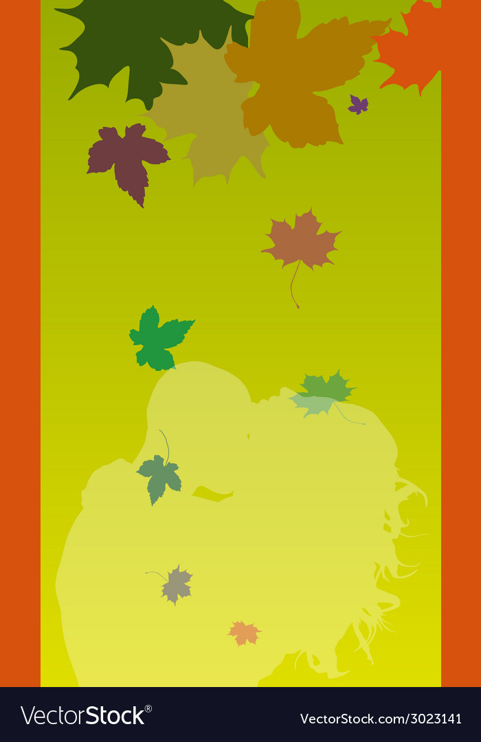 Background with leaves and couple vector | Price: 1 Credit (USD $1)