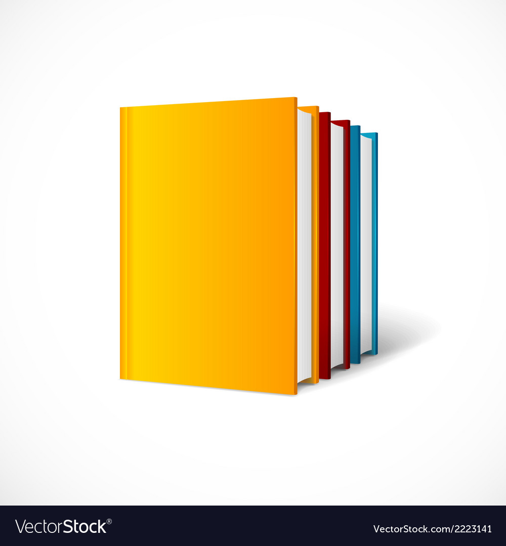 Book cover set perspective  books shelf icon vector | Price: 1 Credit (USD $1)