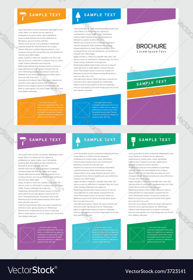 Brochure tri-fold layout design template vector | Price: 1 Credit (USD $1)