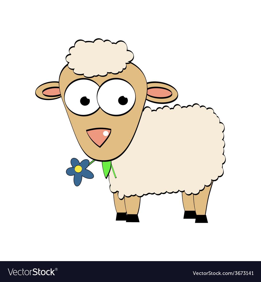 Cartoon character cute sheep symbol of 2015 year vector | Price: 1 Credit (USD $1)