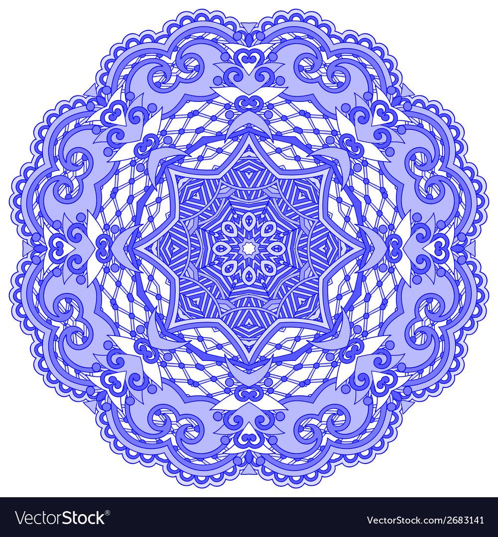 Circle lace ornament round ornamental vector | Price: 1 Credit (USD $1)