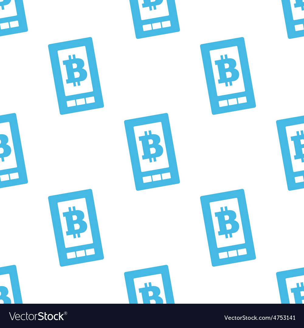 Flat bitcoin on screen pattern vector | Price: 1 Credit (USD $1)