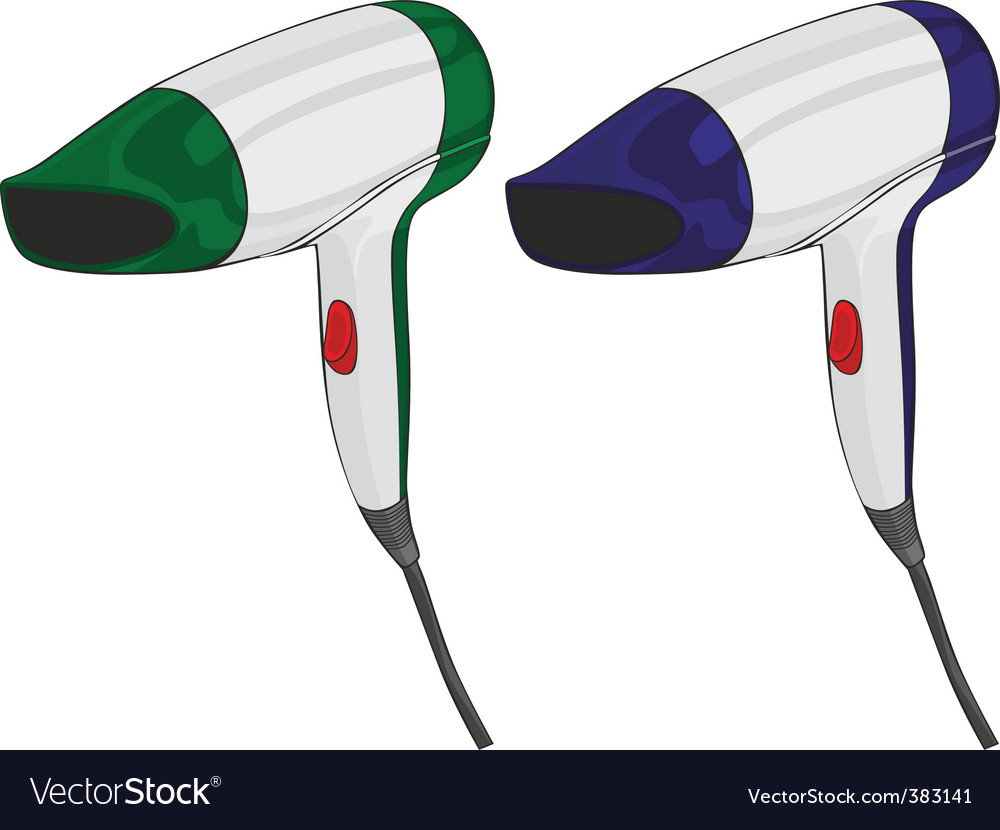 Isolated hairdryers vector | Price: 1 Credit (USD $1)