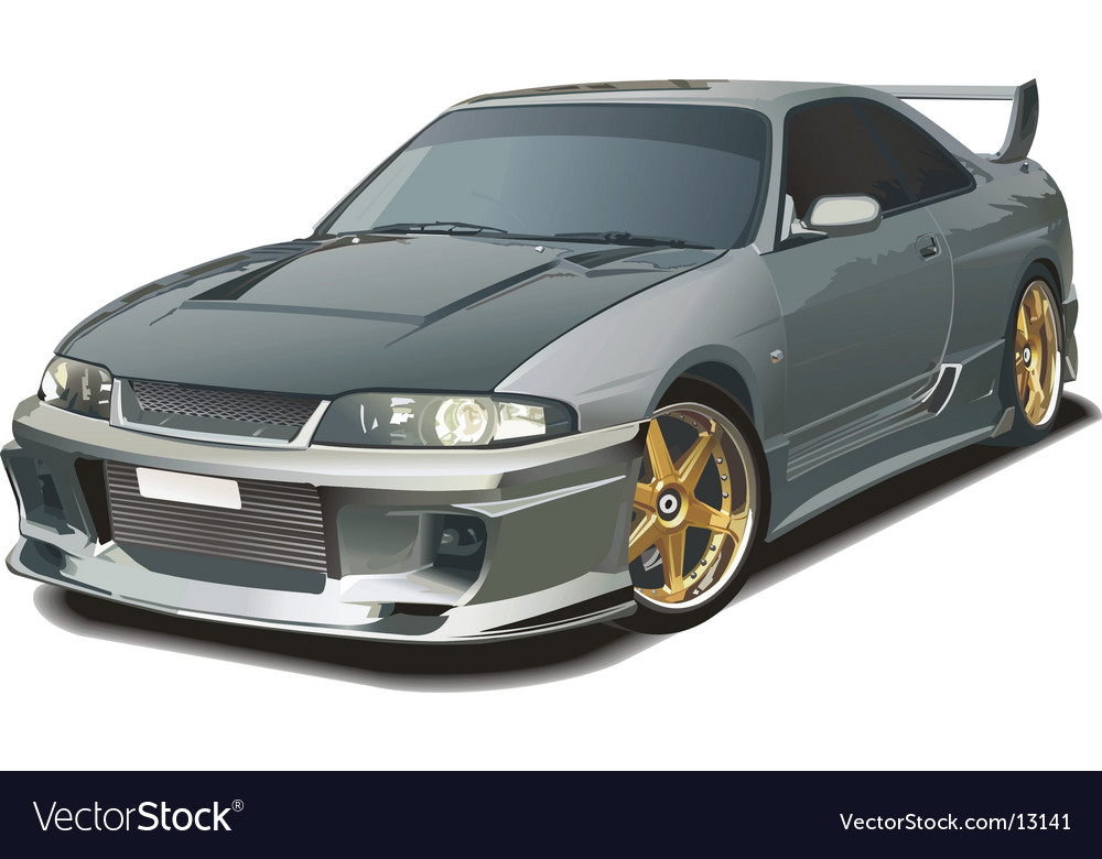 Modern sports car vector | Price: 5 Credit (USD $5)