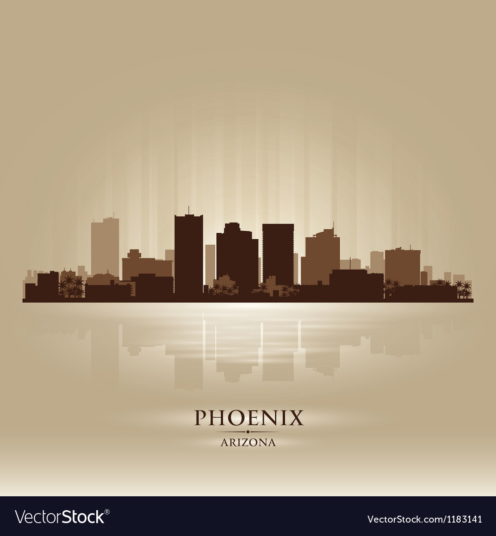 Phoenix arizona skyline city silhouette vector | Price: 1 Credit (USD $1)