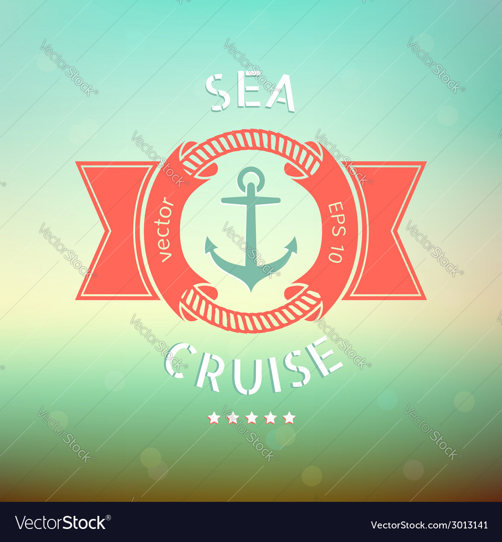 Sea cruise anchor vector