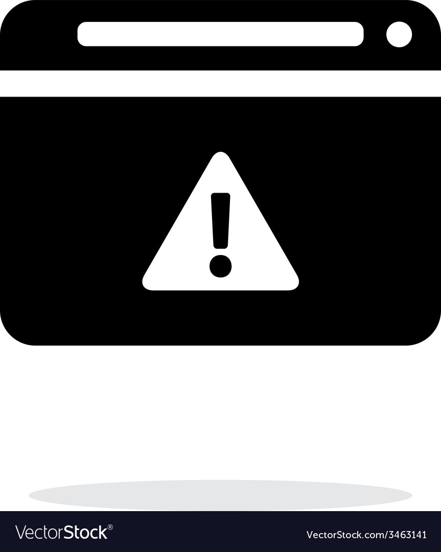 Security warning in browser icon on white vector | Price: 1 Credit (USD $1)