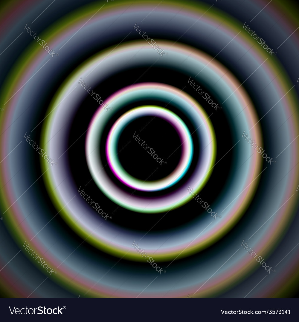 Shiny concentric circles vector | Price: 1 Credit (USD $1)