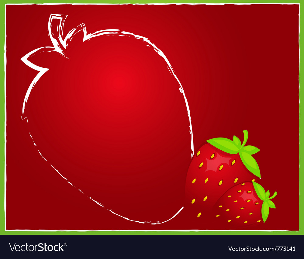 Strawberry background vector | Price: 1 Credit (USD $1)