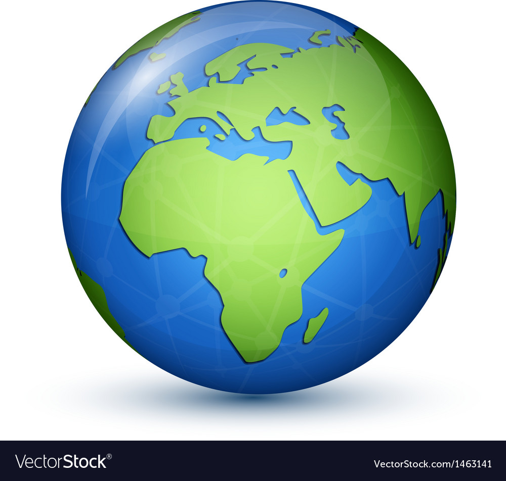 World globe map - africa  europe vector | Price: 1 Credit (USD $1)