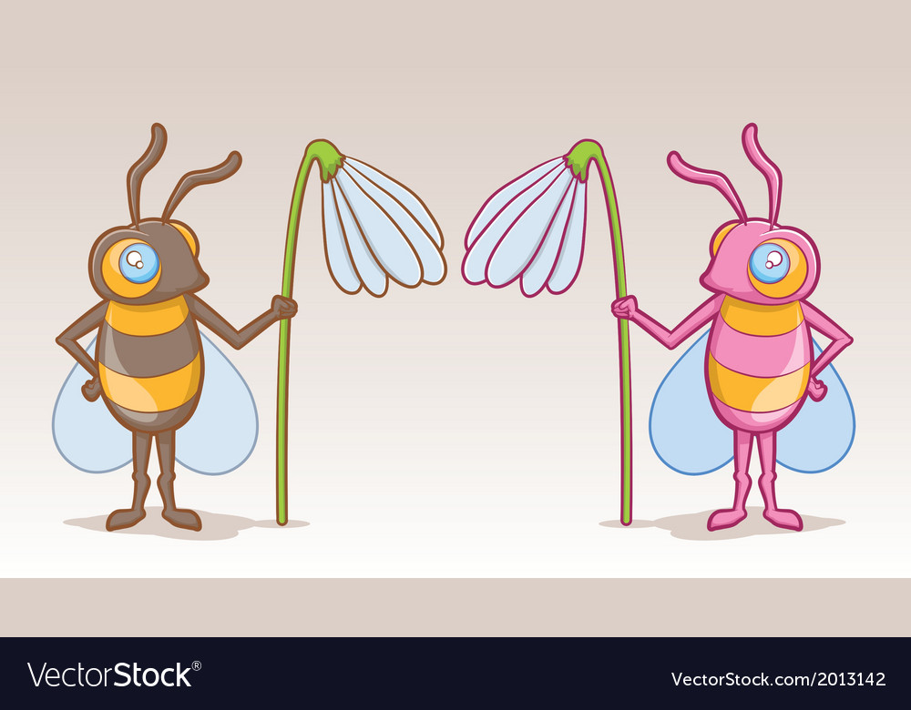 Bee character vector | Price: 1 Credit (USD $1)