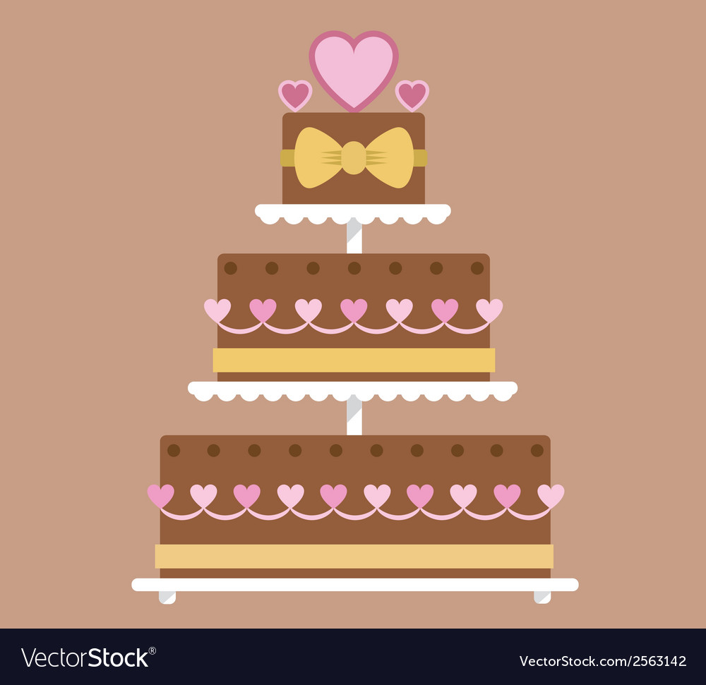 Chocolate wedding cake vector | Price: 1 Credit (USD $1)