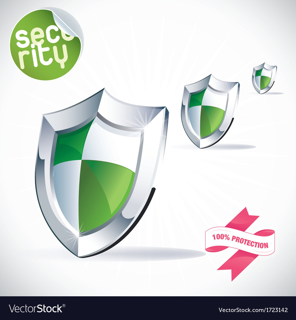 Clean glossy shield vector | Price: 1 Credit (USD $1)