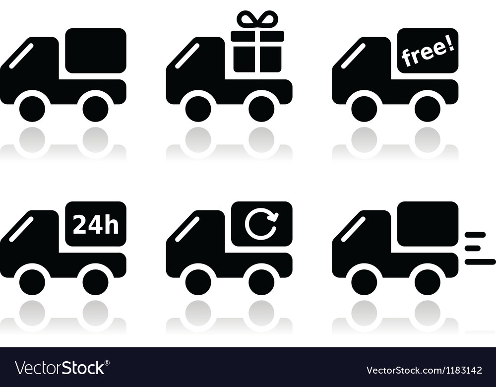 Delivery car shipping icons set vector | Price: 1 Credit (USD $1)