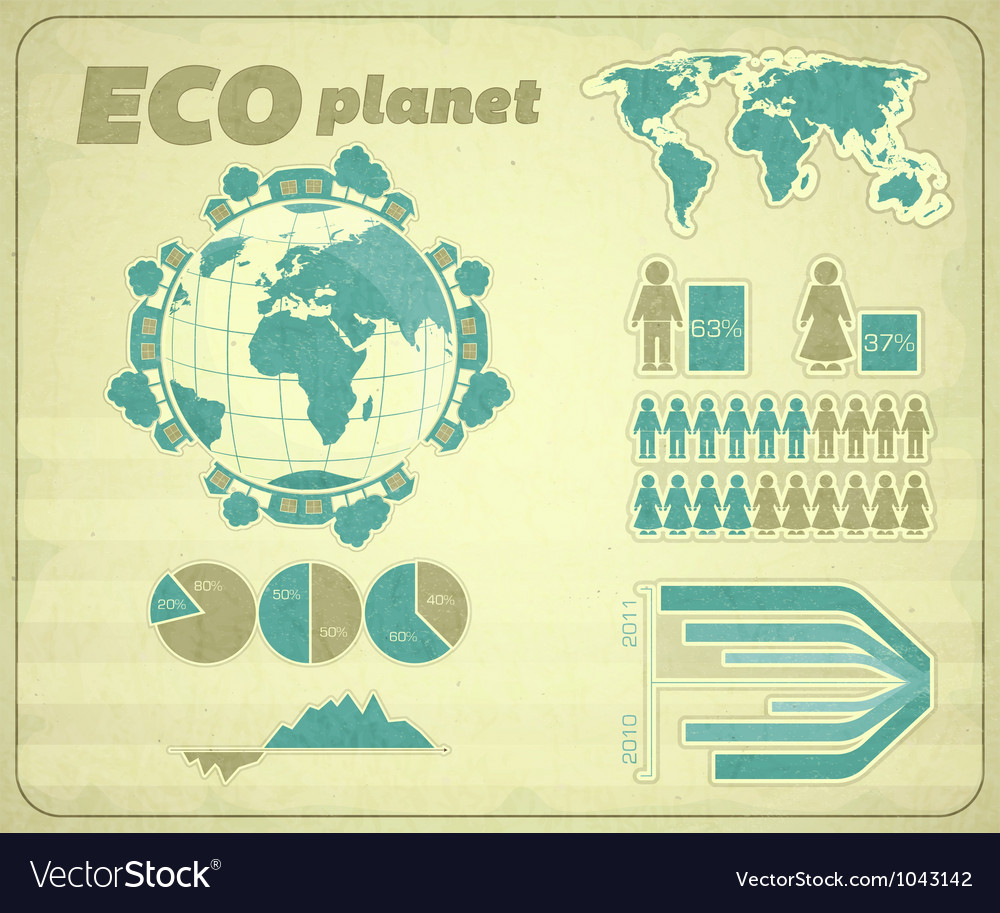 Eco infographic vector | Price: 1 Credit (USD $1)