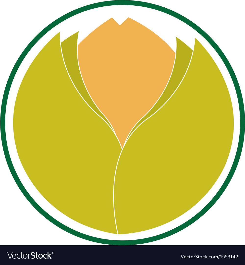 Emblem indicating ecological product vector | Price: 1 Credit (USD $1)