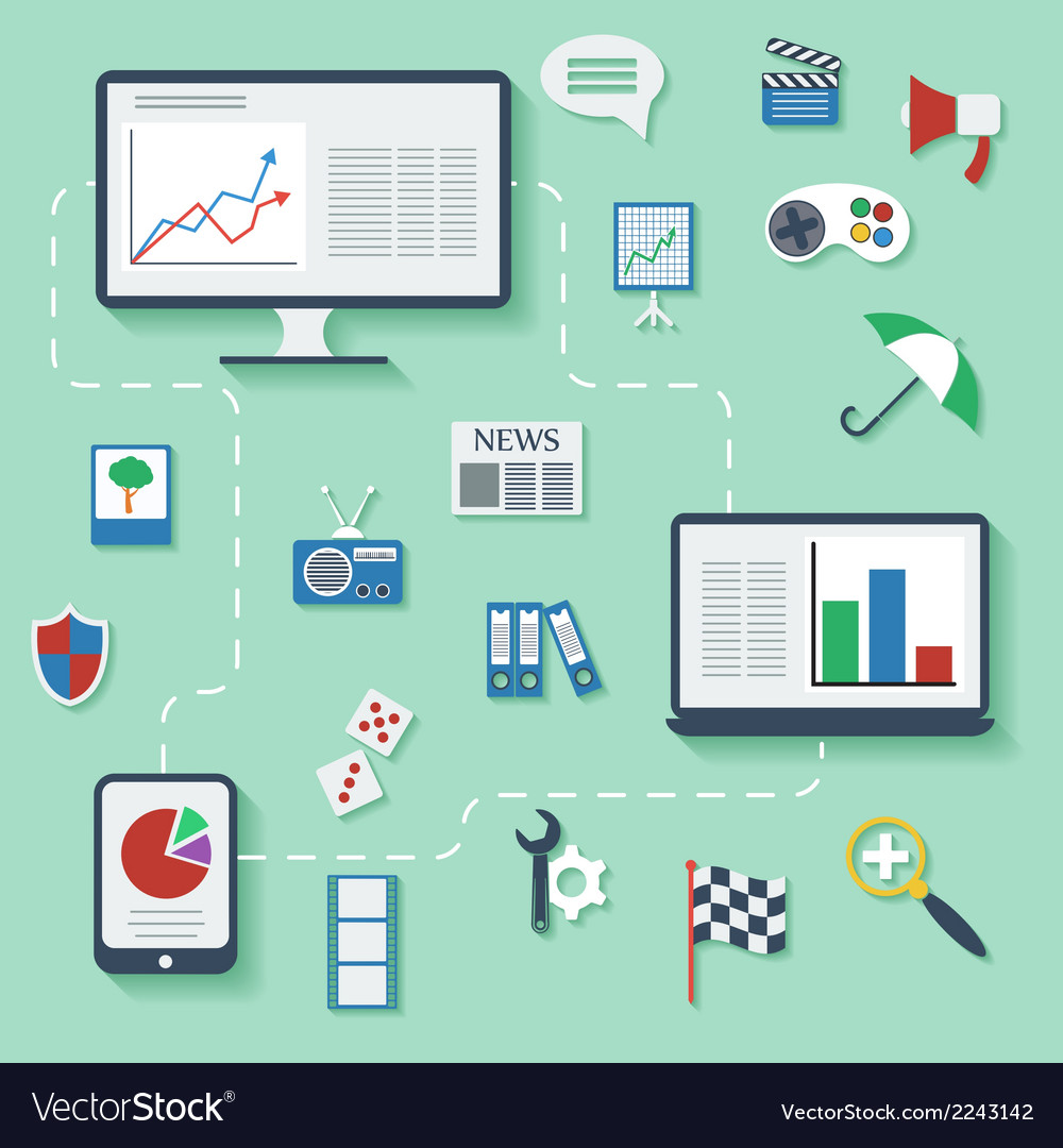 Flat design infographic concept with icons vector | Price: 1 Credit (USD $1)