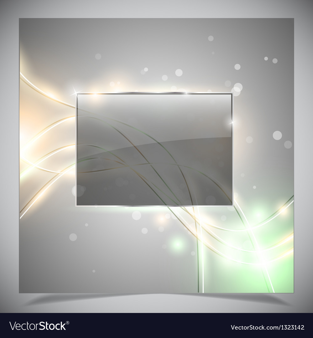 Glass glossy frame abstract background vector   Price: 1 Credit (USD $1)