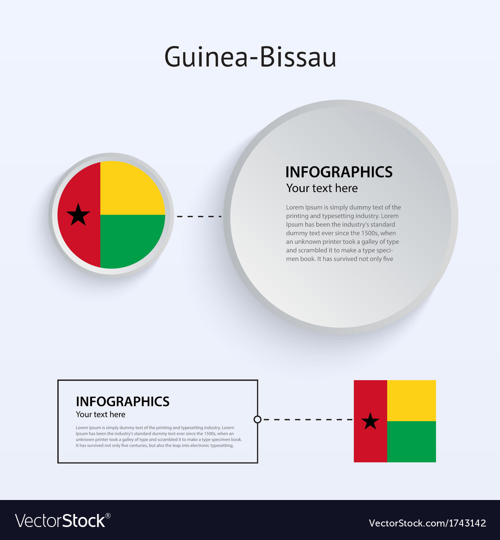 Guinea-bissau country set of banners vector | Price: 1 Credit (USD $1)