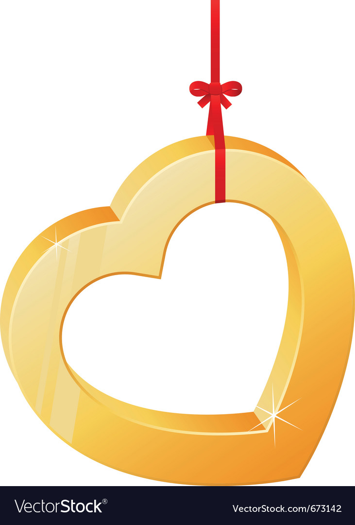Heart on a ribbon vector | Price: 3 Credit (USD $3)