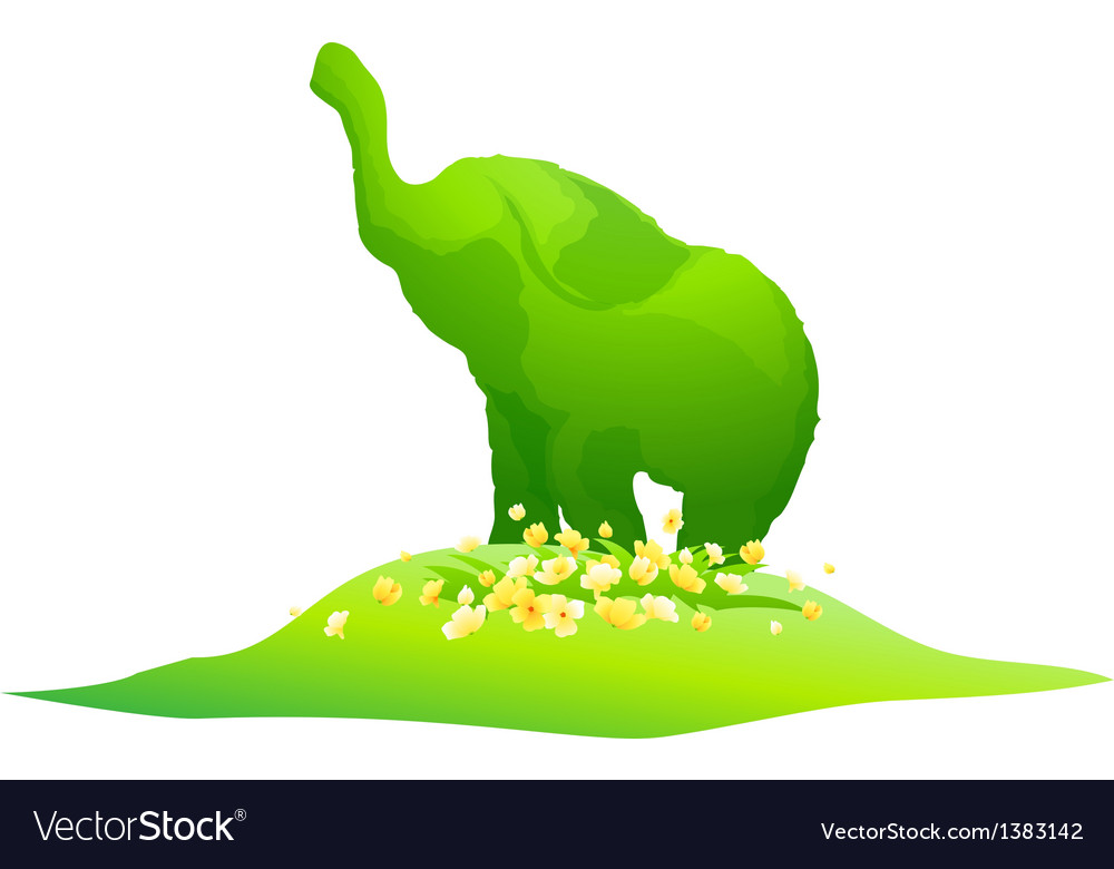 Icon elephant shape plant vector | Price: 1 Credit (USD $1)