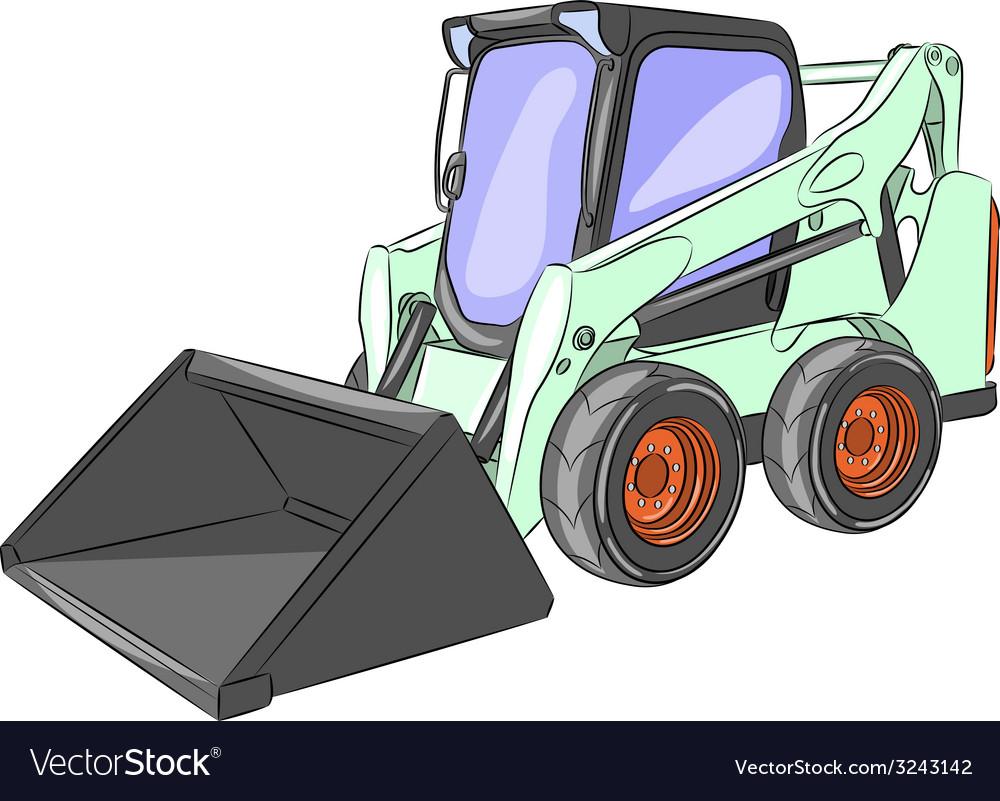 Mini excavator g vector | Price: 1 Credit (USD $1)