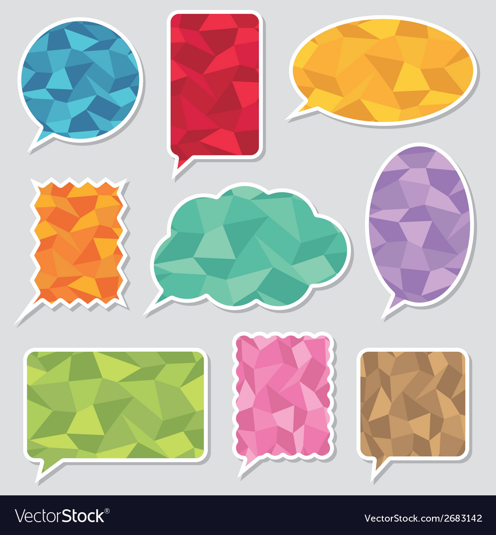 Polygon speech bubbles vector | Price: 1 Credit (USD $1)