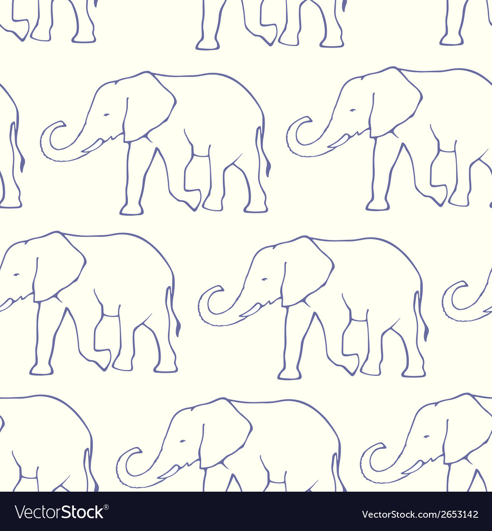 Seamless pattern with hand drawn silhouette vector | Price: 1 Credit (USD $1)