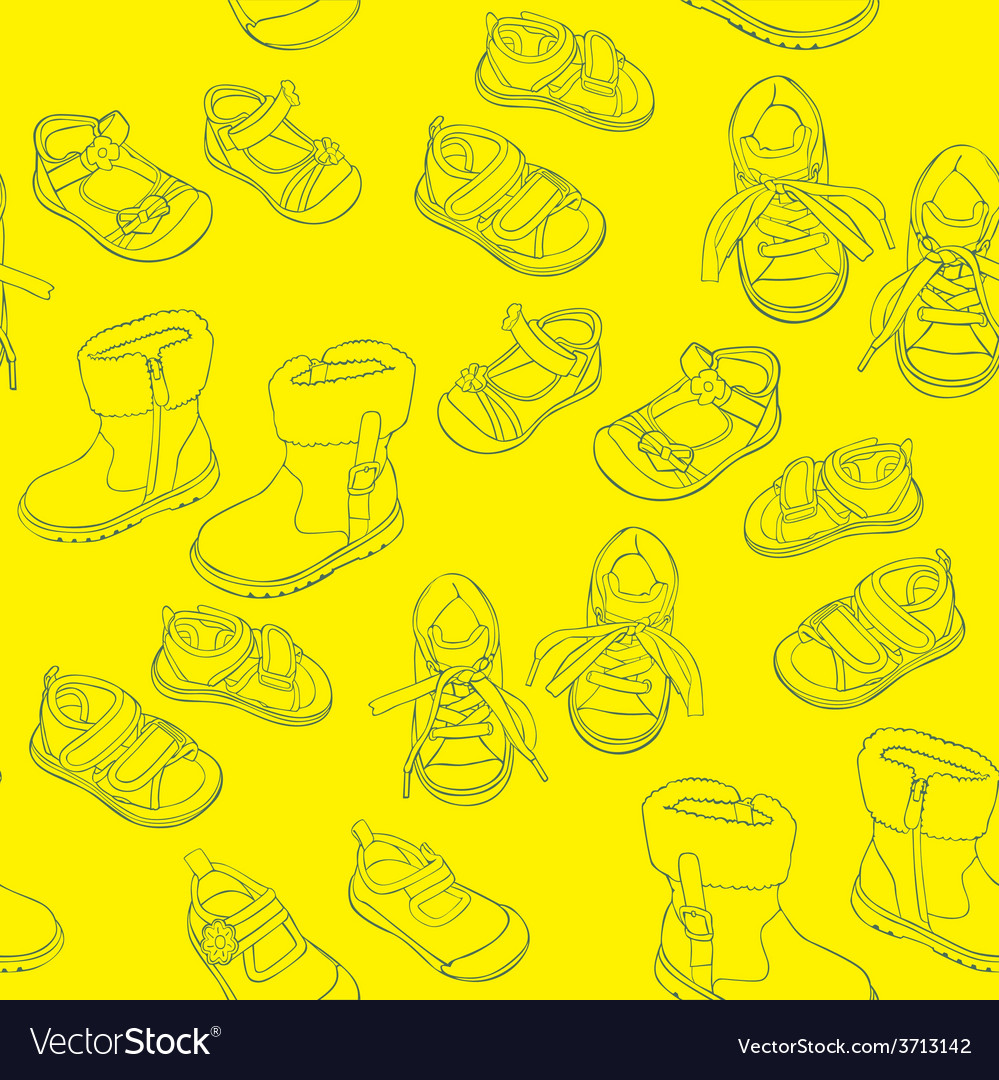 Seamless shoes vector | Price: 1 Credit (USD $1)
