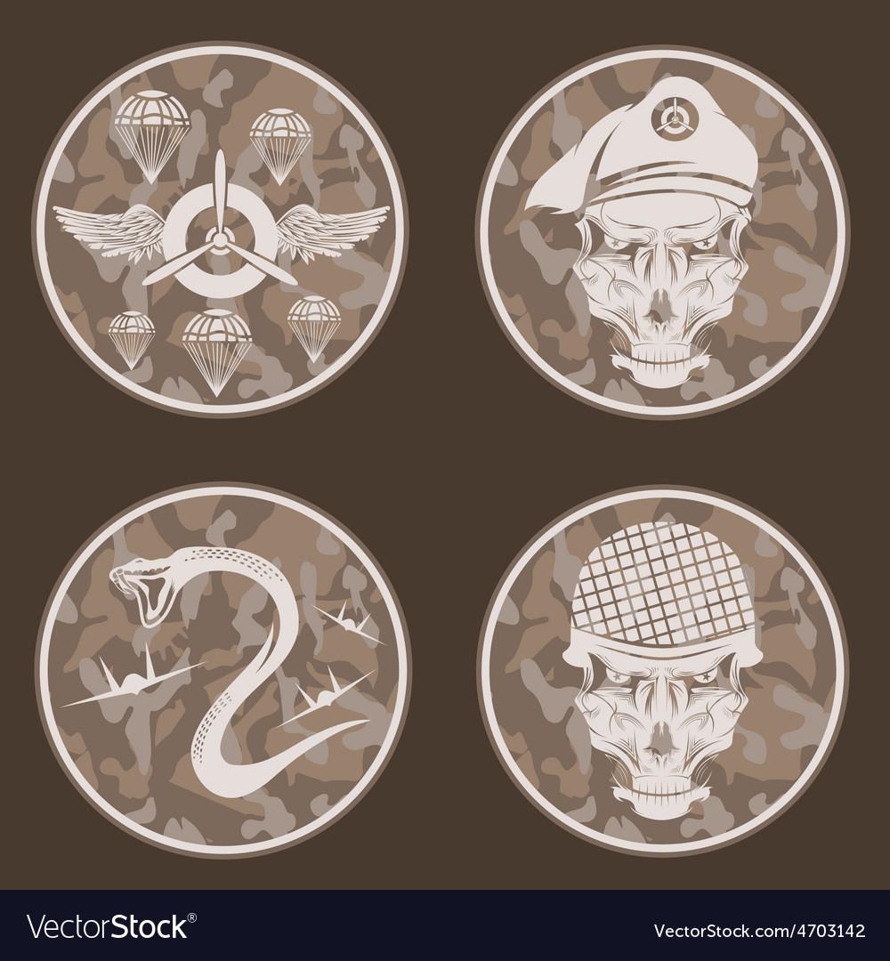 Special unit military emblem set design template vector | Price: 1 Credit (USD $1)
