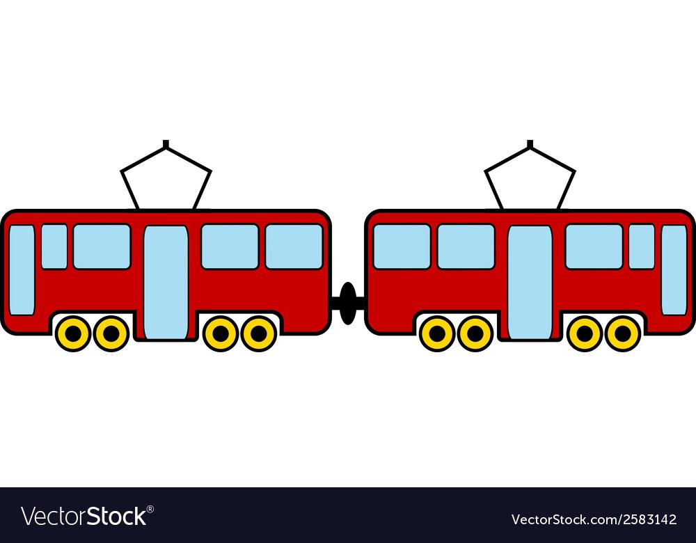 Tram vector | Price: 3 Credit (USD $3)