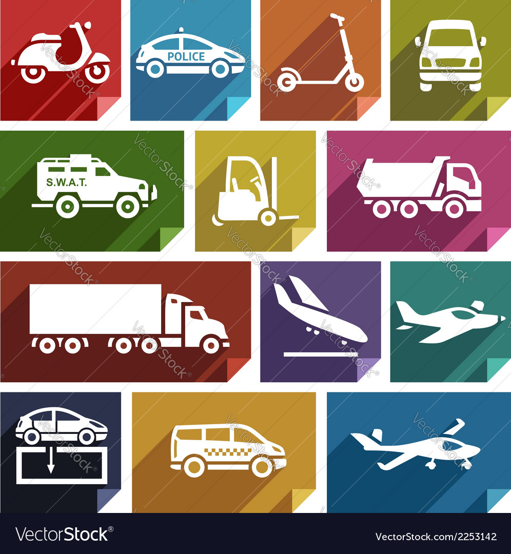 Transport flat icon-05 vector | Price: 1 Credit (USD $1)