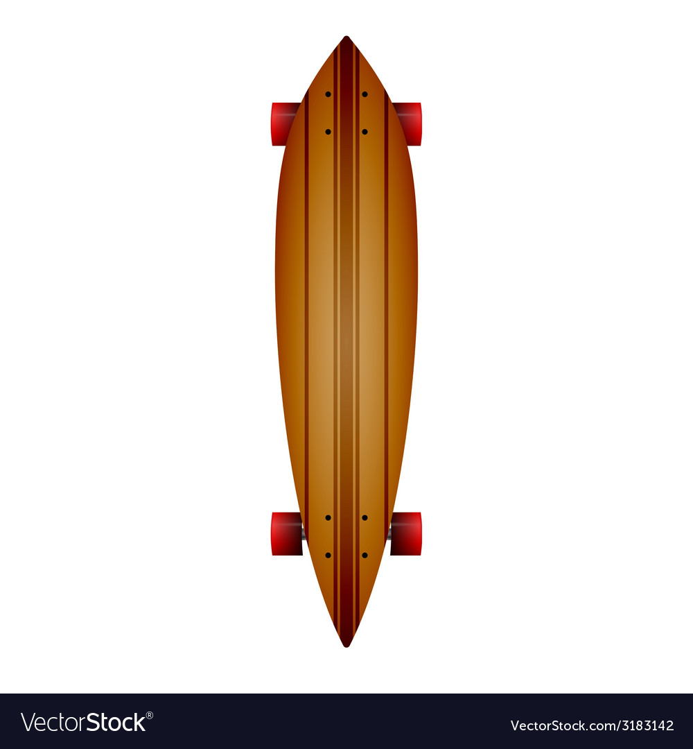 Wooden longboard vector | Price: 1 Credit (USD $1)