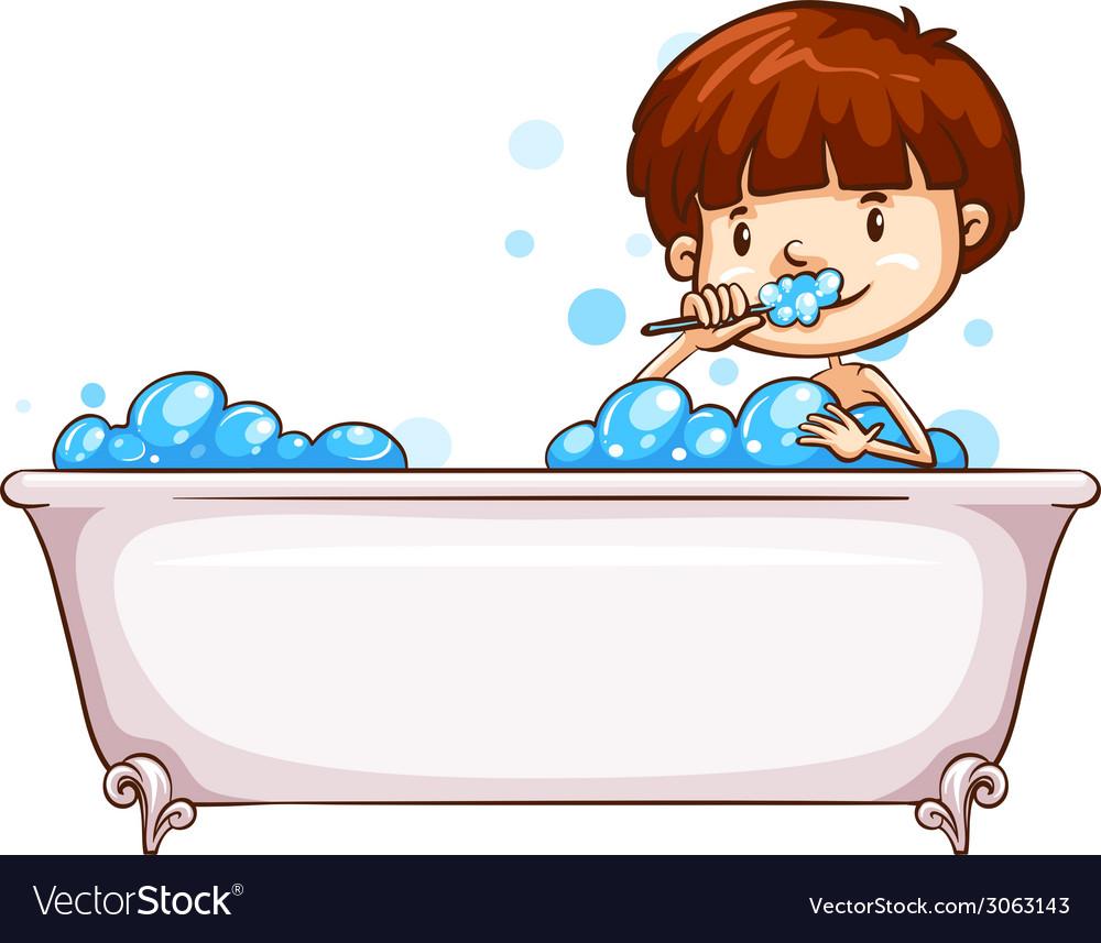 A simple sketch of a boy bathing vector   Price: 1 Credit (USD $1)