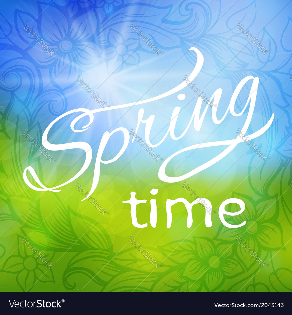 Abstract spring background frame vector | Price: 1 Credit (USD $1)