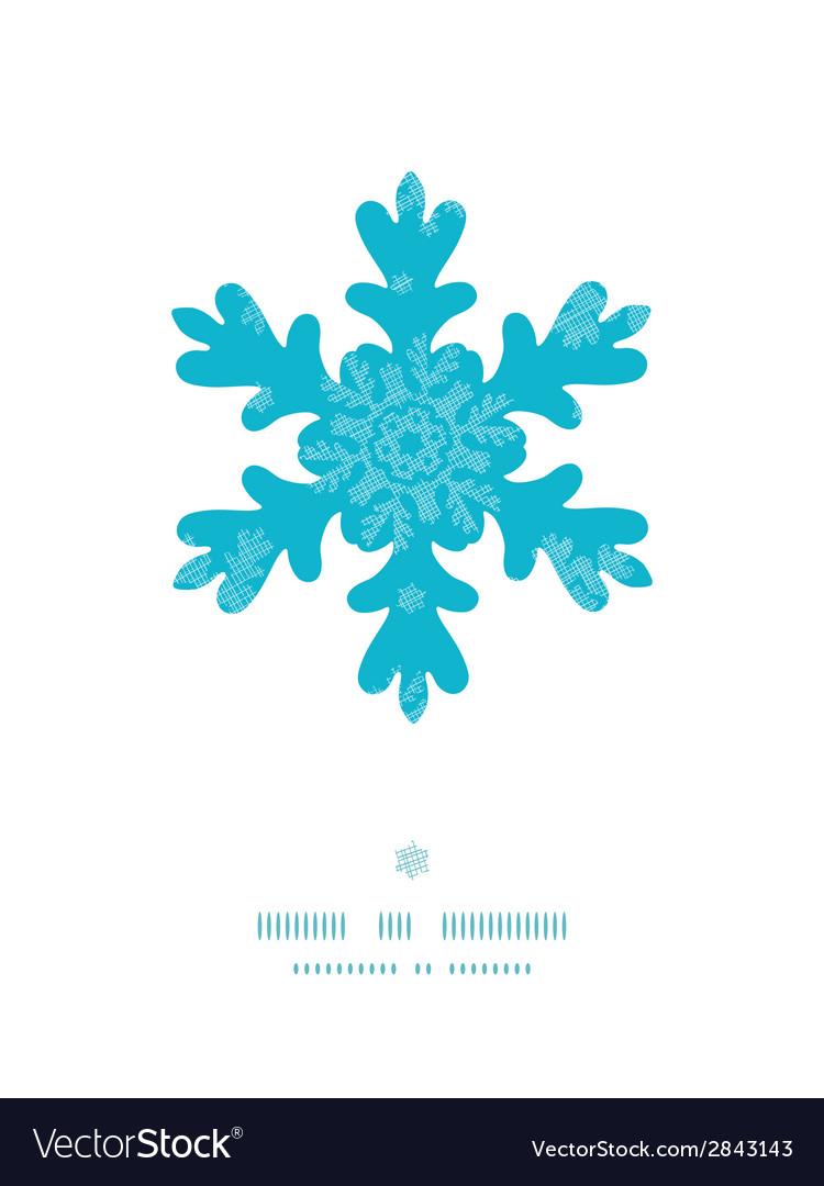 Christmas snowflake frame blue snowflakes textile vector | Price: 1 Credit (USD $1)