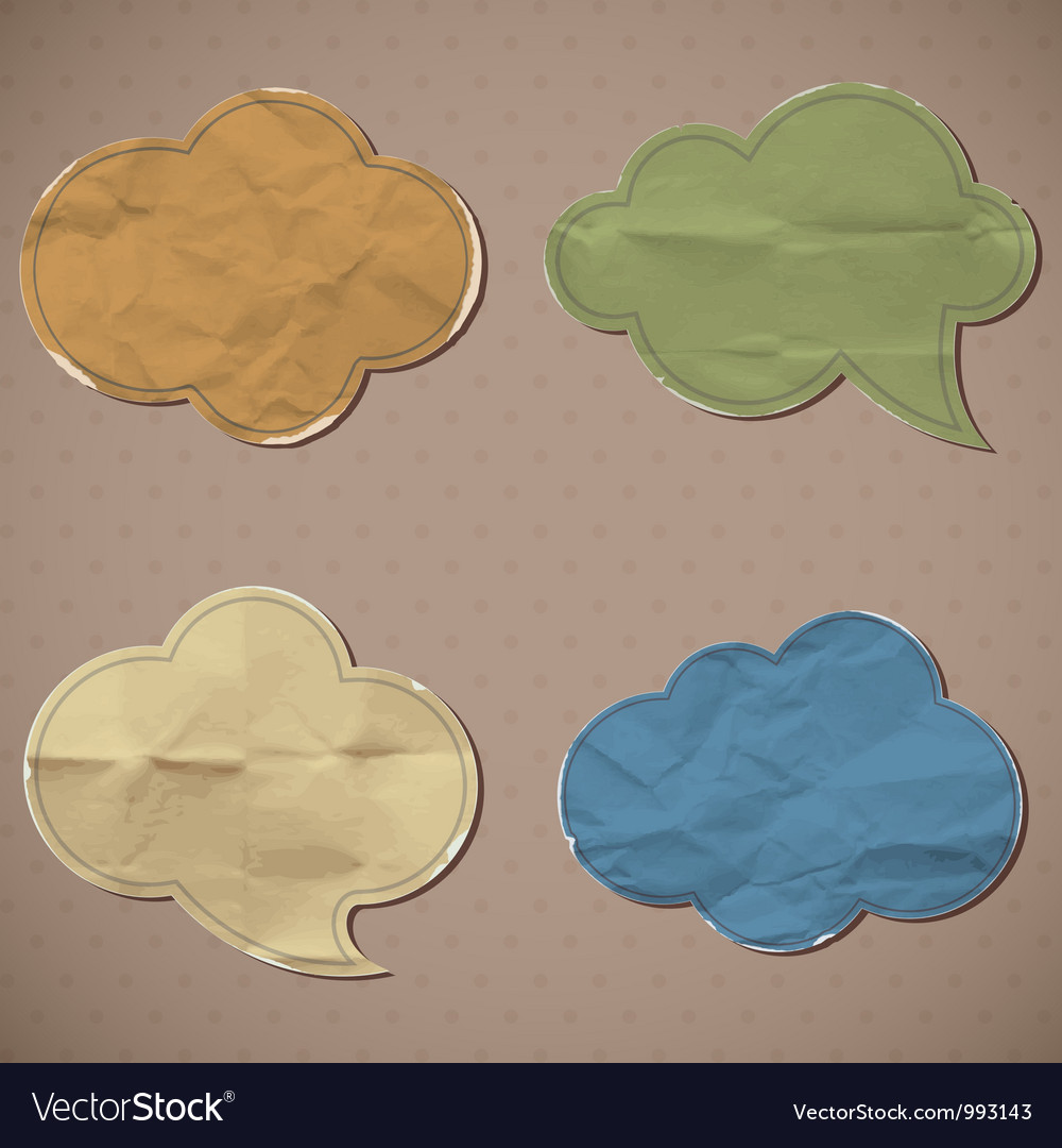 Crumpled paper vector | Price: 1 Credit (USD $1)