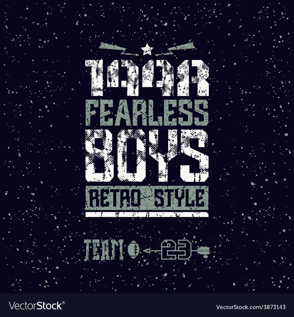 Fearless boys team emblem vector | Price: 1 Credit (USD $1)