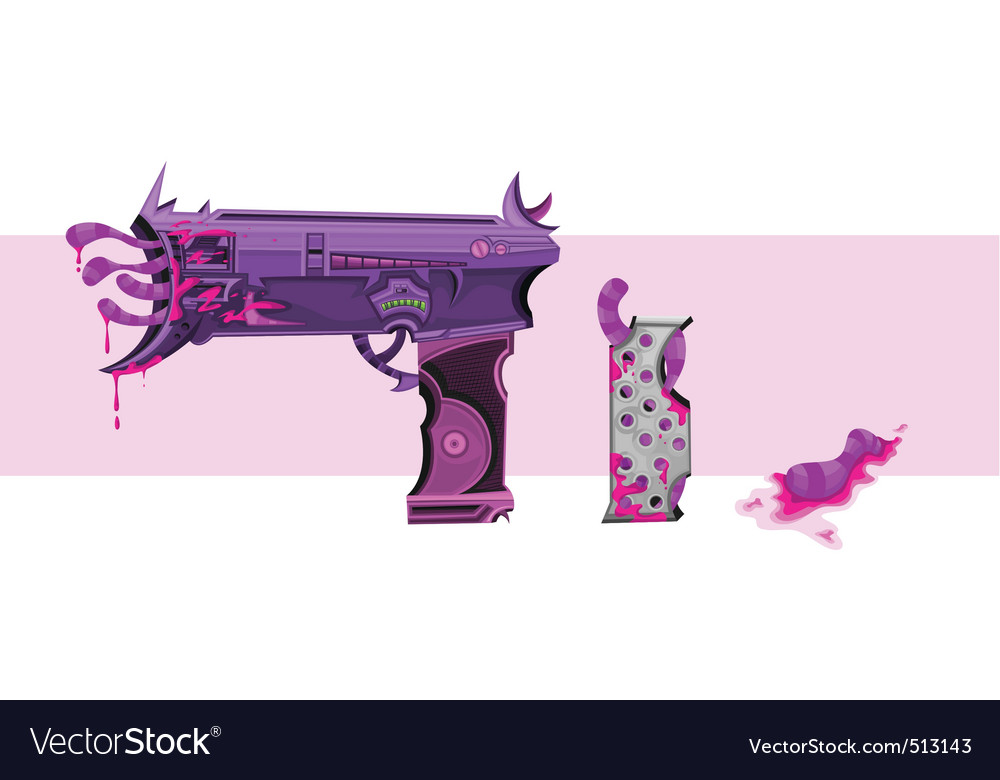 Leech hand gun vector | Price: 3 Credit (USD $3)