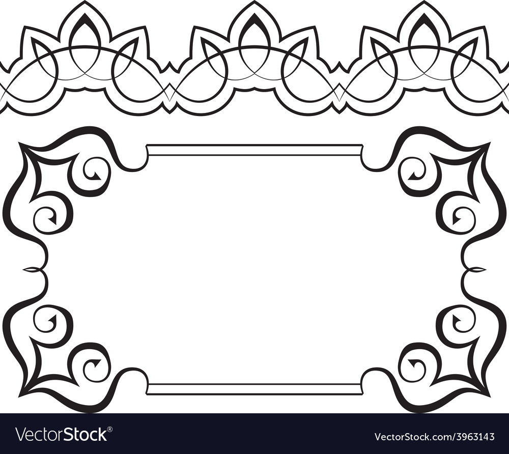 Set of frames and borders elements for design vector | Price: 1 Credit (USD $1)