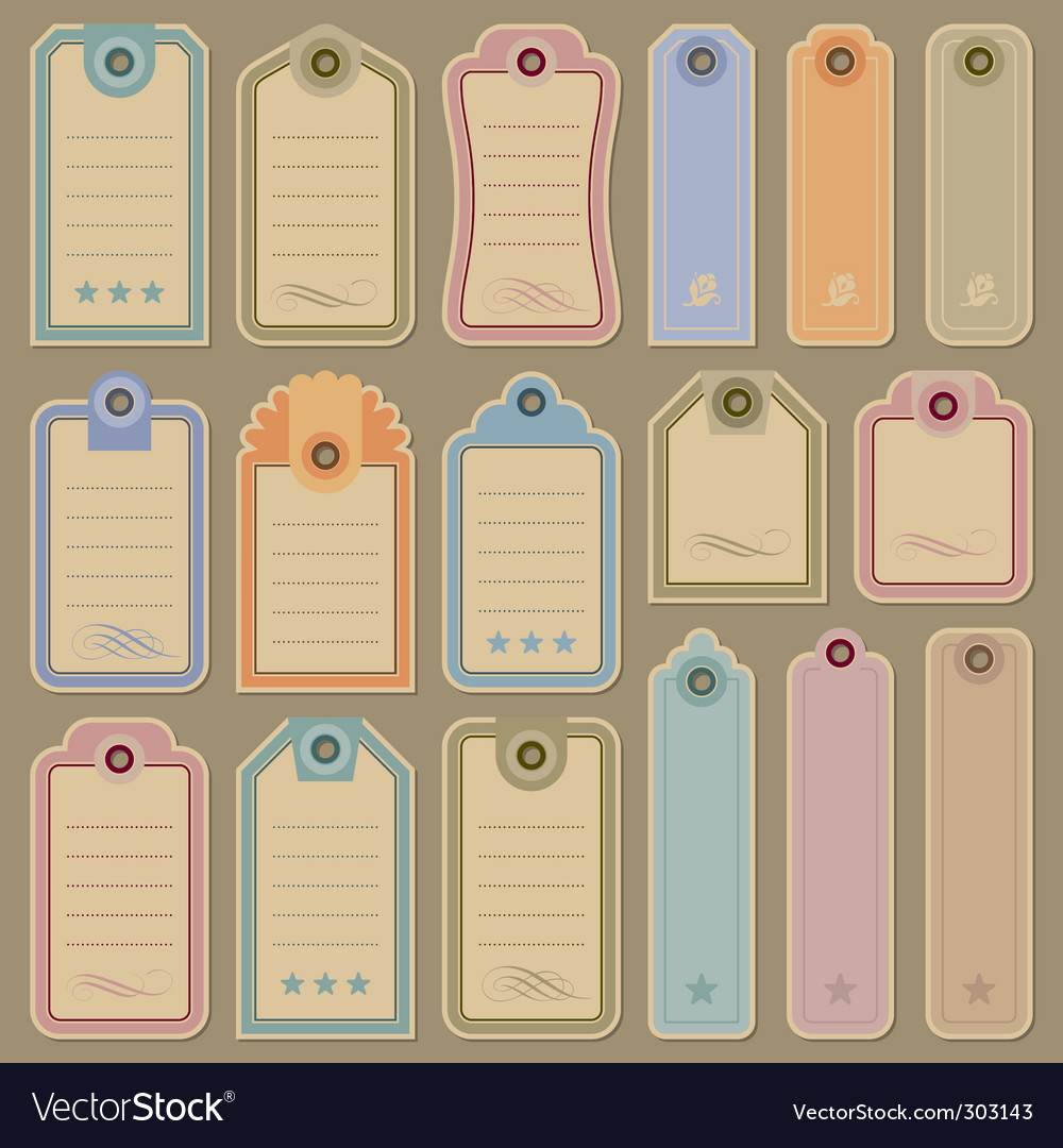 Tags set vector | Price: 1 Credit (USD $1)