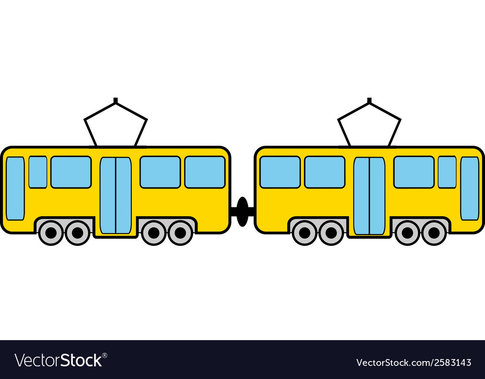Tram vector | Price: 3 Credit (USD $3)