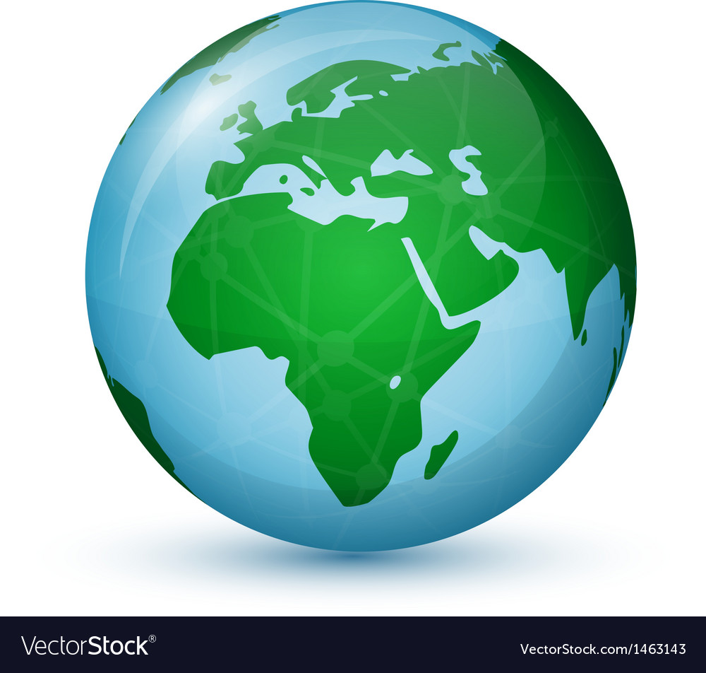 World globe map  africa europe vector