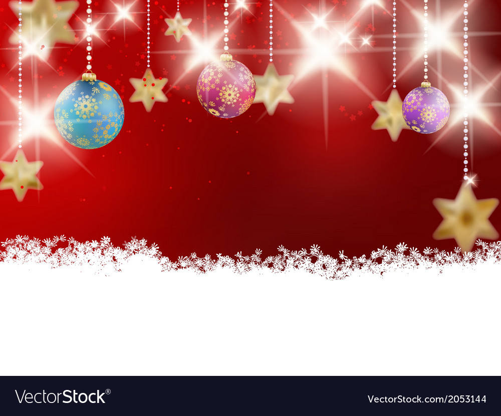 Background with red christmas baubles vector | Price: 1 Credit (USD $1)