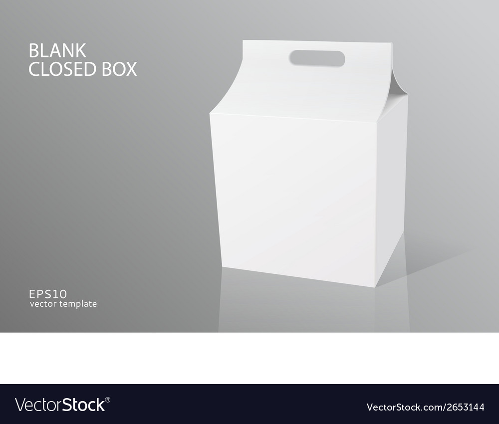Blank packing closed box vector | Price: 1 Credit (USD $1)