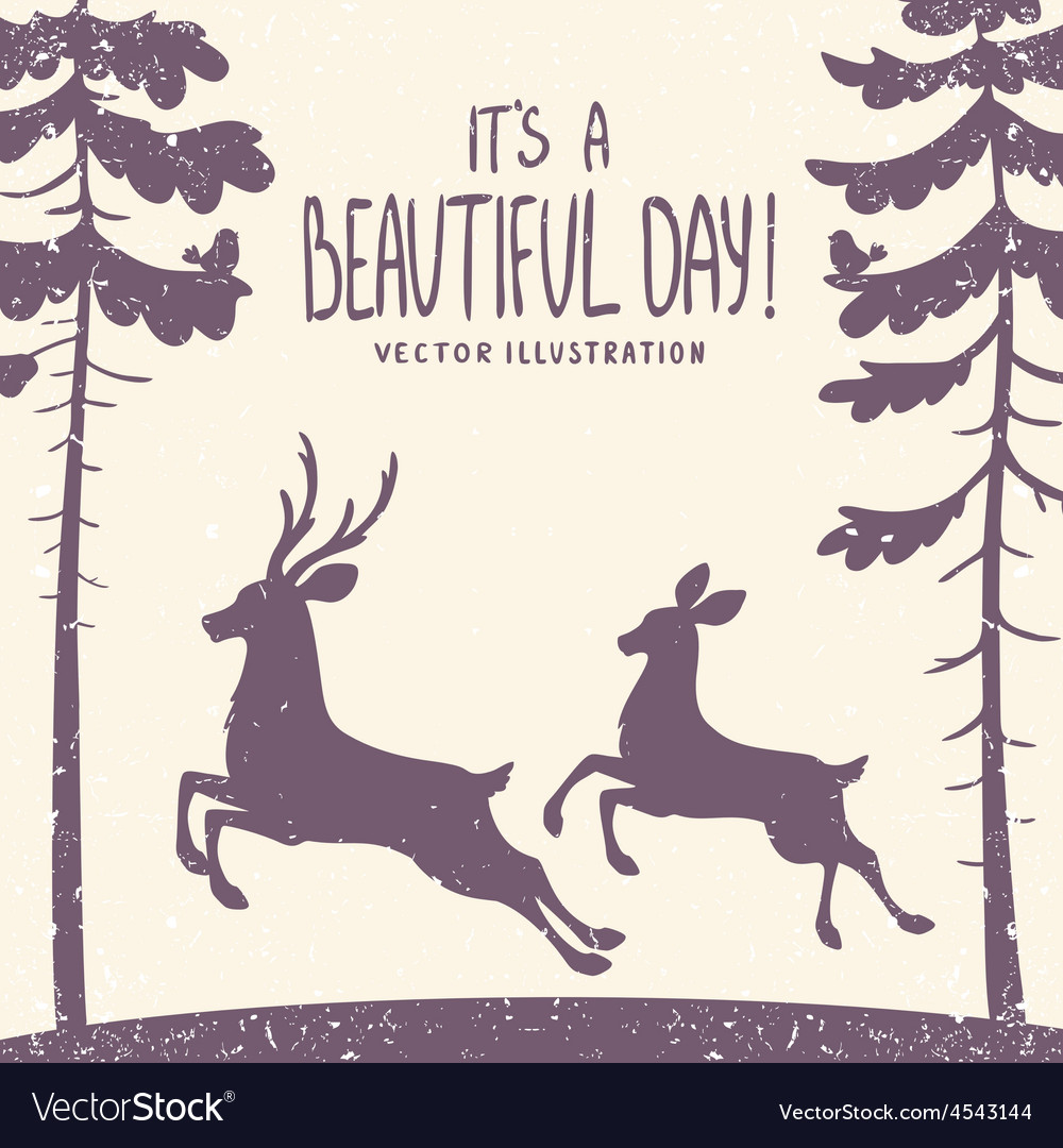Deer silhouette vector | Price: 1 Credit (USD $1)