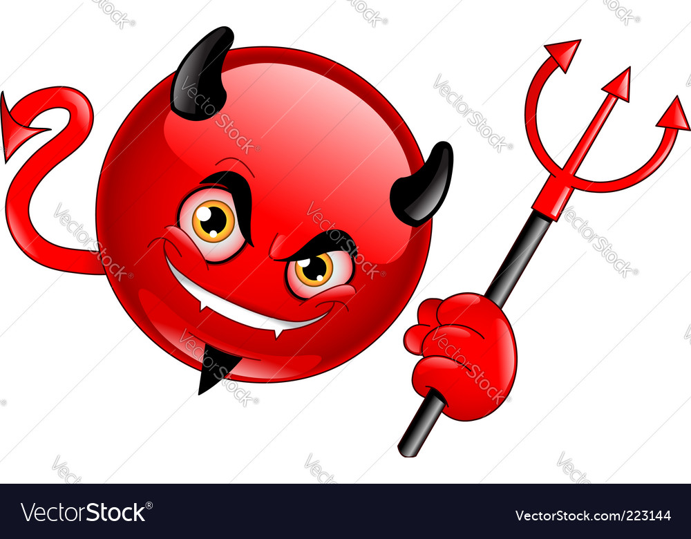 Devil emoticon vector