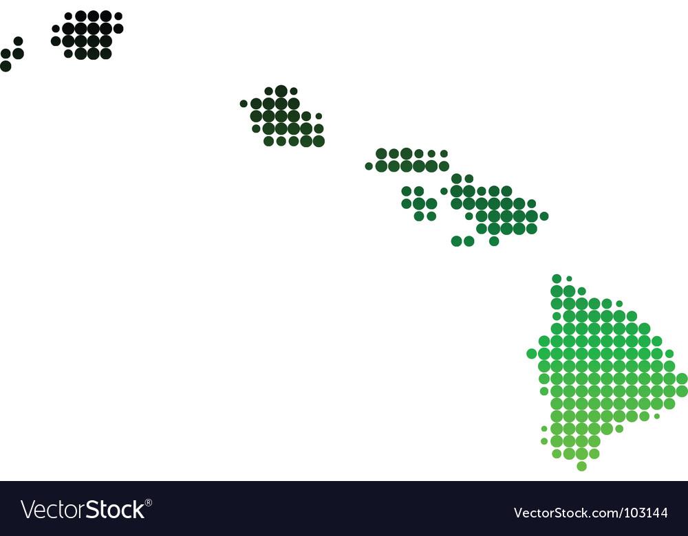 Map of hawaii vector | Price: 1 Credit (USD $1)