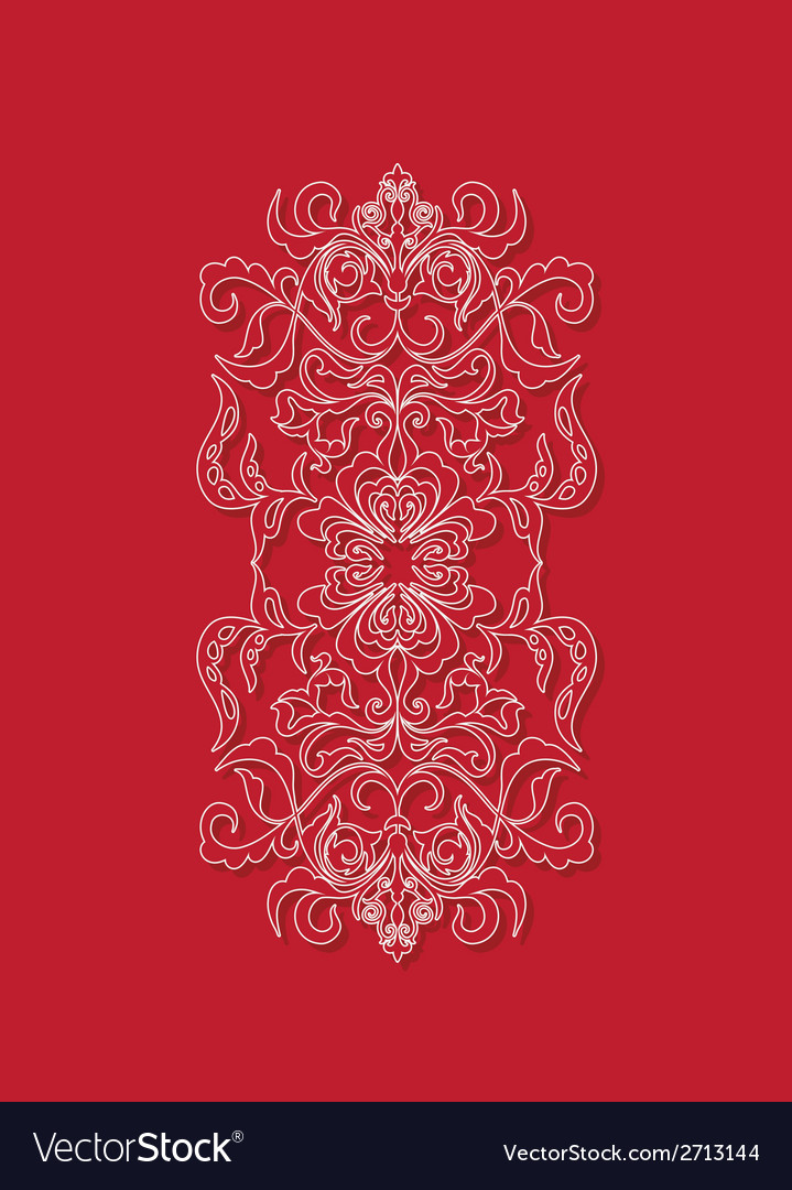 Oriental floral background design sry lanka vector | Price: 1 Credit (USD $1)