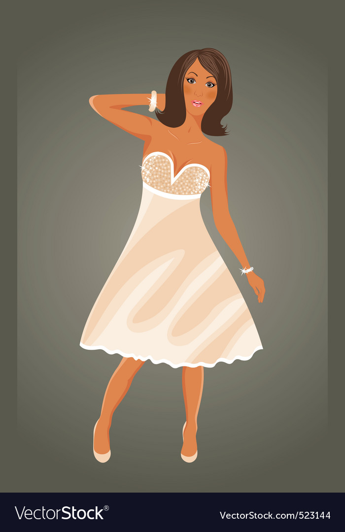 Pretty girl vector | Price: 3 Credit (USD $3)